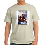 WAC Women's Army Corps Ash Grey T-Shirt