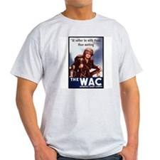 WAC Women's Army Corps (Front) Ash Grey T-Shirt