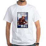 WAC Women's Army Corps (Front) White T-Shirt