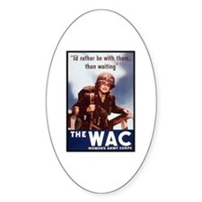 WAC Women's Army Corps Oval Decal
