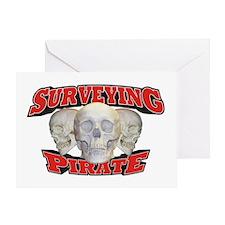 Surveying Pirate Greeting Card