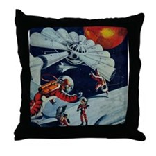 Outpost in Space Throw Pillow