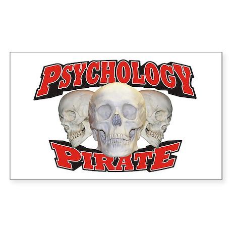 Psychology Pirate Sticker (Rectangle 50 pk)