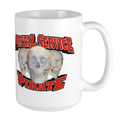 Postal Service Pirate Large Mug