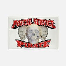 Postal Service Pirate Rectangle Magnet