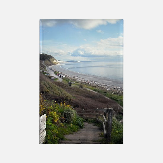 Ebey's Landing View Rectangle Magnet