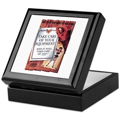 Equipment Care Propaganda Poster Art Keepsake Box