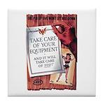 Equipment Care Propaganda Poster Art Tile Coaster