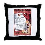 Equipment Care Propaganda Poster Art Throw Pillow