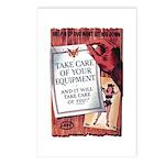 Equipment Care Propaganda Poster Art Postcards (Pa