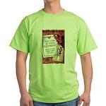 Equipment Care Propaganda Poster Art Green T-Shirt