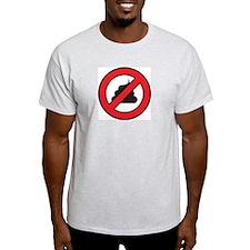 No Sh't Ash Grey T-Shirt