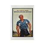 Patriotic Wounded Soldier Poster Art Rectangle Mag