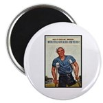 Patriotic Wounded Soldier Poster Art Magnet