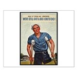 Patriotic Wounded Soldier Poster Art Small Poster