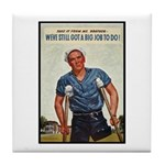 Patriotic Wounded Soldier Poster Art Tile Coaster