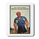 Patriotic Wounded Soldier Poster Art Mousepad