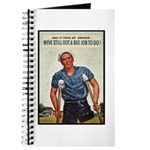 Patriotic Wounded Soldier Poster Art Journal