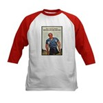 Patriotic Wounded Soldier (Front) Kids Baseball Je