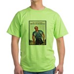 Patriotic Wounded Soldier Poster Art Green T-Shirt