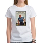 Patriotic Wounded Soldier Poster Art Women's T-Shi