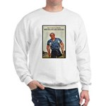 Patriotic Wounded Soldier Poster Art Sweatshirt