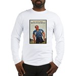 Patriotic Wounded Soldier Poster Art Long Sleeve T