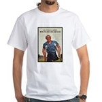 Patriotic Wounded Soldier Poster Art White T-Shirt