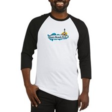 Kure Beach NC - Lighthouse Design Baseball Jersey