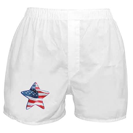 American Flag - Star Boxer Shorts