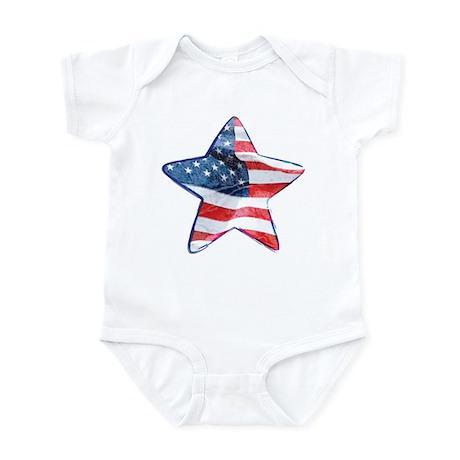 American Flag - Star Infant Bodysuit