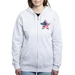 American Flag - Star Zip Hoodie