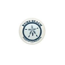 Kure Beach NC - Sand Dollar Design Mini Button