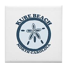 Kure Beach NC - Sand Dollar Design Tile Coaster