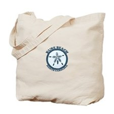 Kure Beach NC - Sand Dollar Design Tote Bag