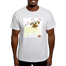Anti-Valentine's Day Pug Ash Grey T-Shirt
