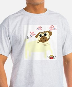 Anti-Valentine's Day Pug Ash Grey T-Shirt