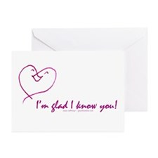 Glad 2 know u Greeting Cards (Pk of 10)