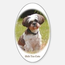 Shih Tzu Cute Oval Decal
