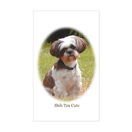 Shih Tzu Cute Rectangle Sticker