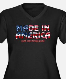 Made In America (with some fo Women's Plus Size V-
