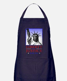 Liberty & Justice For All Apron (dark)