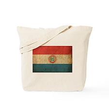 Vintage Paraguay Flag Tote Bag