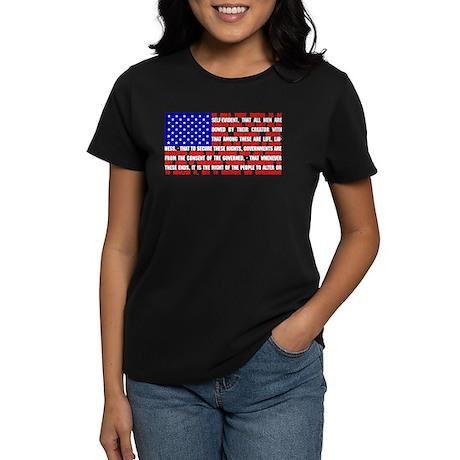 Declaration as a Flag Women's Dark T-Shirt