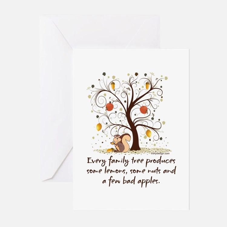 Family Tree Humor Greeting Cards (Pk of 20)