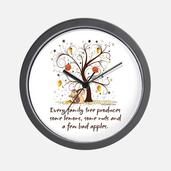Family Tree Humor Wall Clock