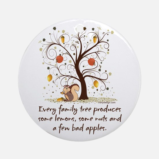 Family Tree Humor Ornament (Round)