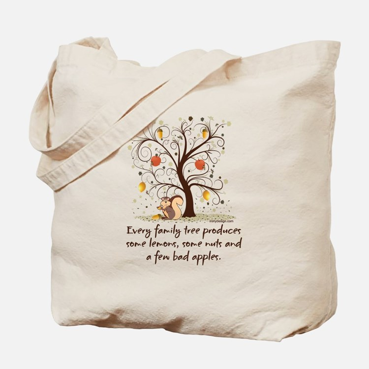 Family Tree Humor Tote Bag
