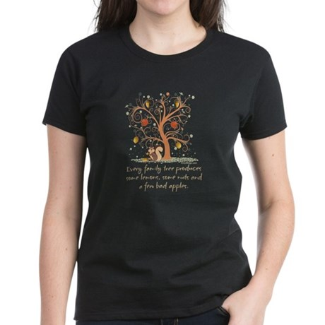 Family Tree Humor Women's Dark T-Shirt