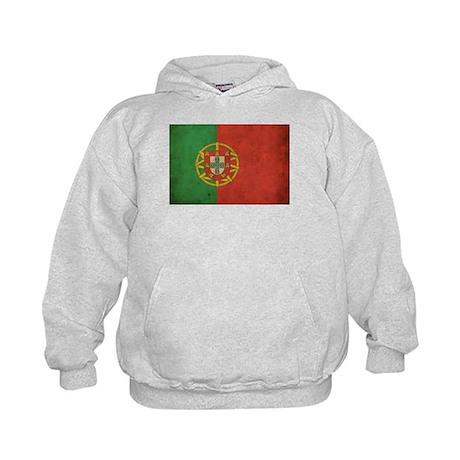 Vintage Portugal Flag Kids Hoodie